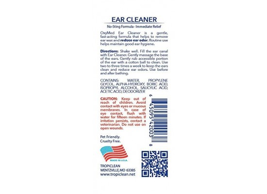 Tropiclean Pet Ear Cleaner, 4 Ounce