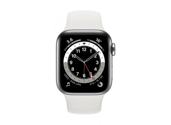 Apple Watch S6 40MM Stainless Steel Case with Sport Band (M06T3AE/A-APW) - Silver