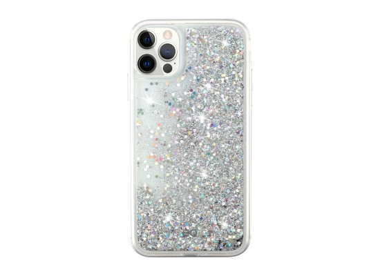 EQ Quicksand Case for iPhone 12/12 Pro - Silver