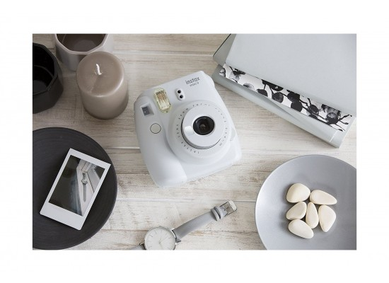 Fujifilm Instax Mini 9 Camera - Smokey White Top View