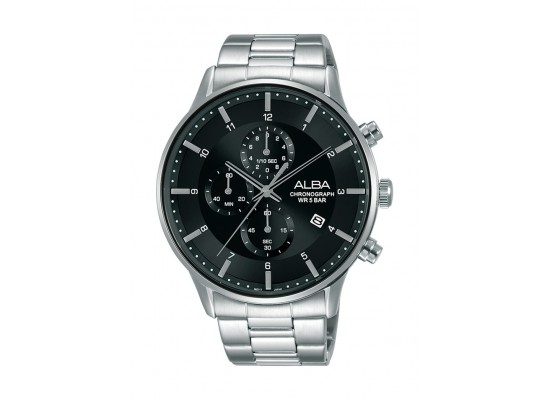 Alba 44mm Gent's Metal Chronograph Casual Watch - AM3765X1