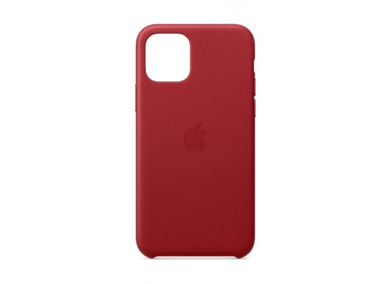 Apple iPhone 11 Pro Max Leather Case - Red