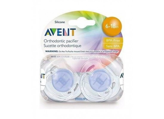 Philips Avent Classic Silicon Soother 2pcs - 6-18m