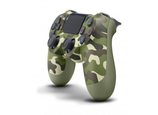 Sony PS4 Controller DualShock 4 Wireless – Green Camouflage Left Angle View