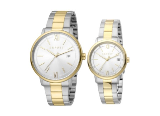 Esprit Kaye Pair Quartz Analog 32/42mm Unisex Watch ES1P181M0035 in Kuwait | Buy Online – Xcite