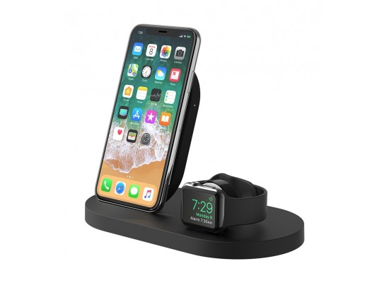 Belkin BOOST UP Wireless Charging Dock for iPhone + Apple Watch - Black