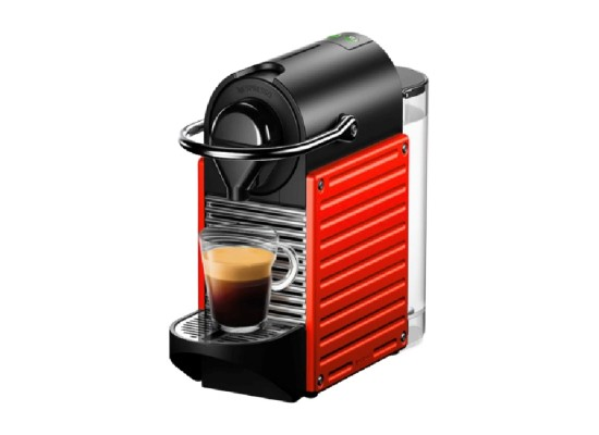 Nespresso Pixie Coffee Machine (C61-ME-RE-NE) - Red