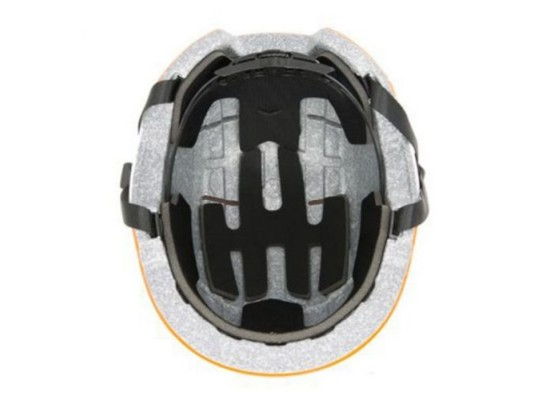 Segway Kickscooter Kids Commuter Helmet Orange air holes spin dial and strap padding