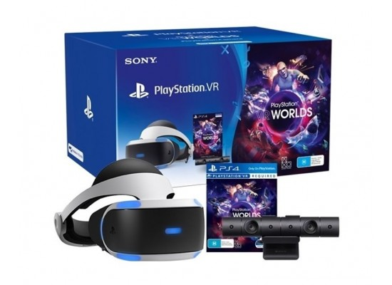 Sony PlayStation VR + PlayStation Camera + VR World Game + Sony Playstation Move Controller For PS4 (Twin Pack)
