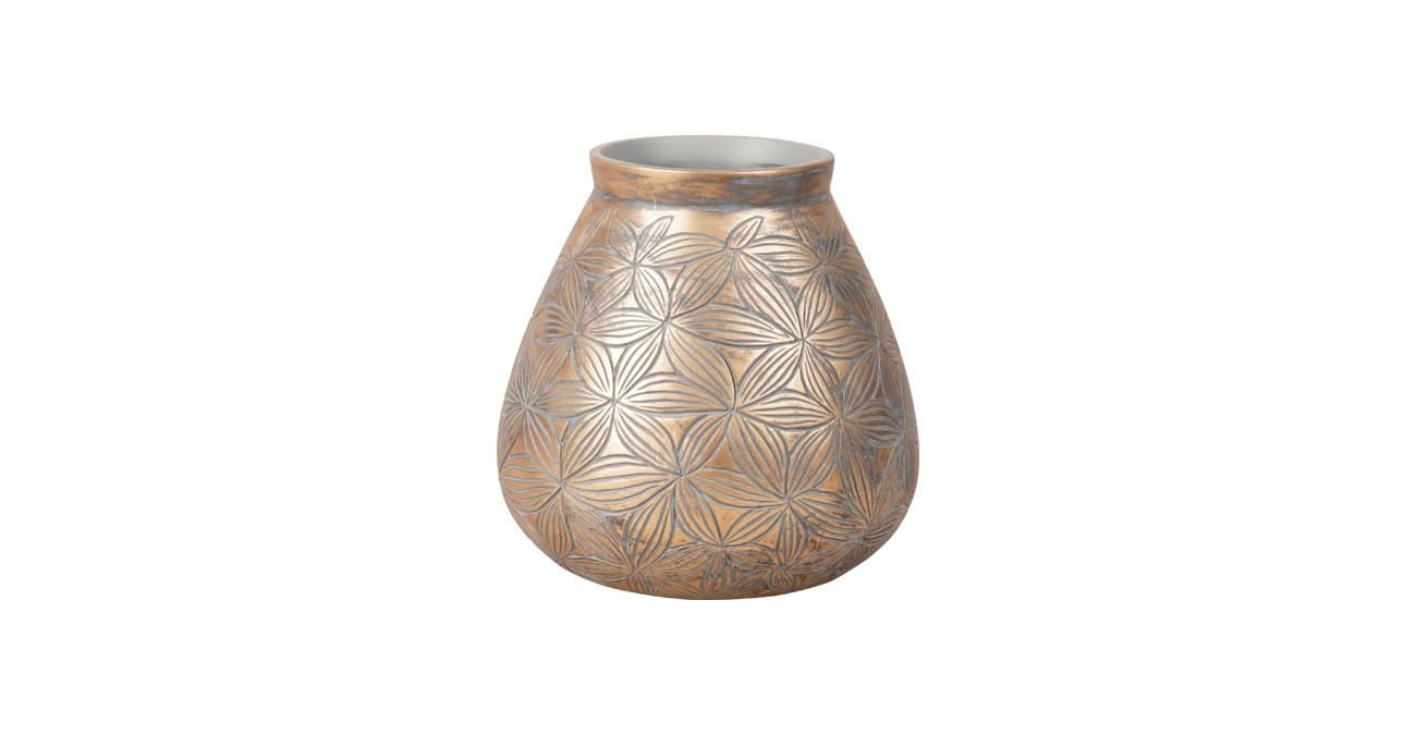 Monali Vase Gold 20Cm  data-src=