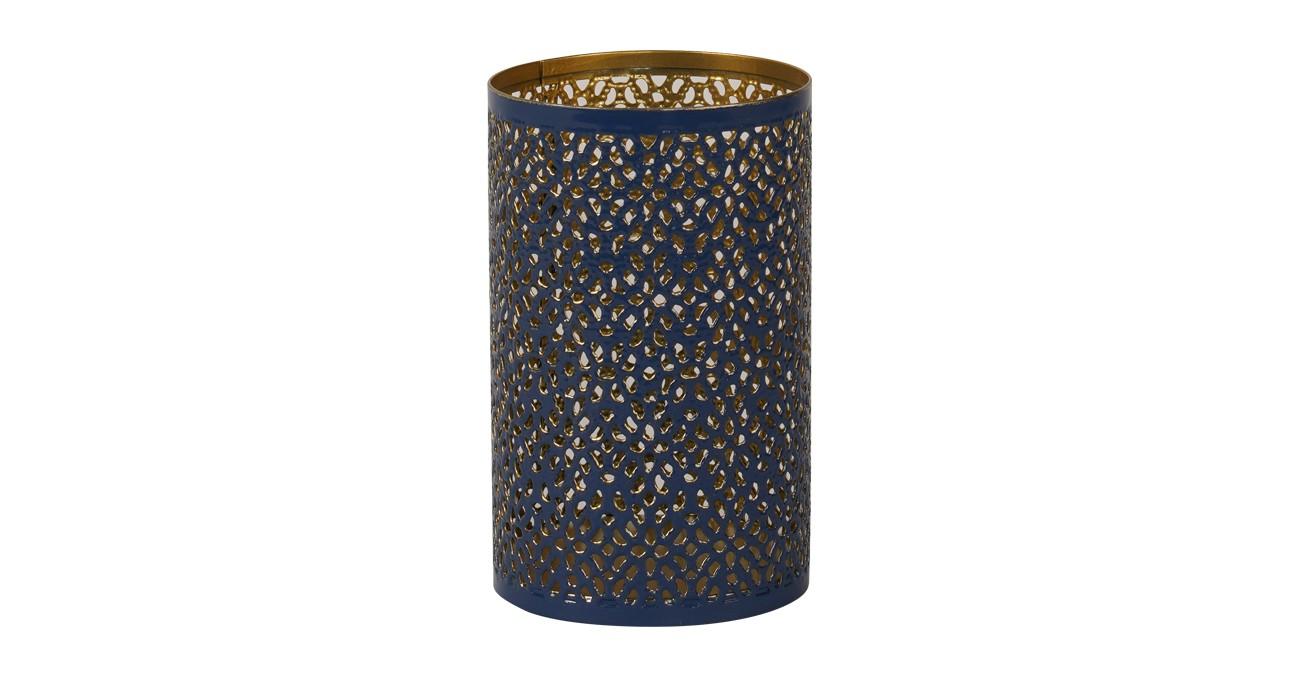 Ceola Candle Holder Blue 13 cm