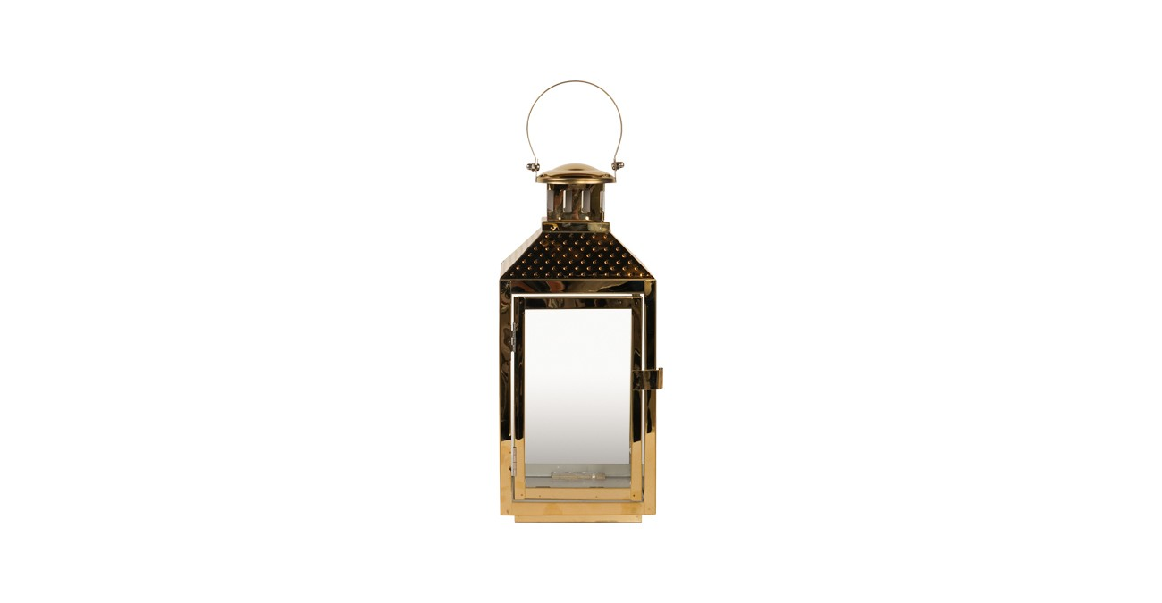 Belle Lantern Gold 31 cm
