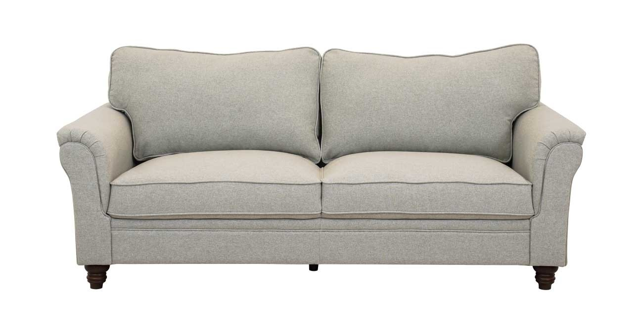 Burgas 3 Seater Sofa, Light Grey  data-src=