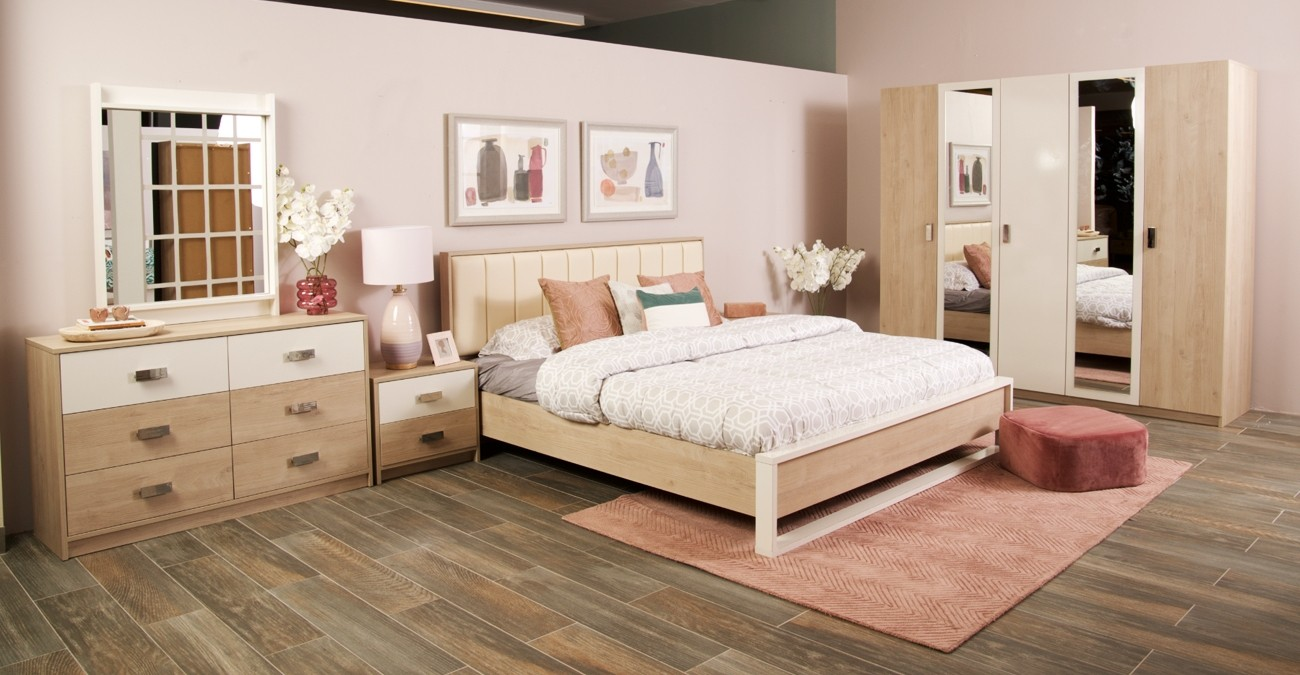 New Passi Bedroom Set With Wardrobe  data-src=