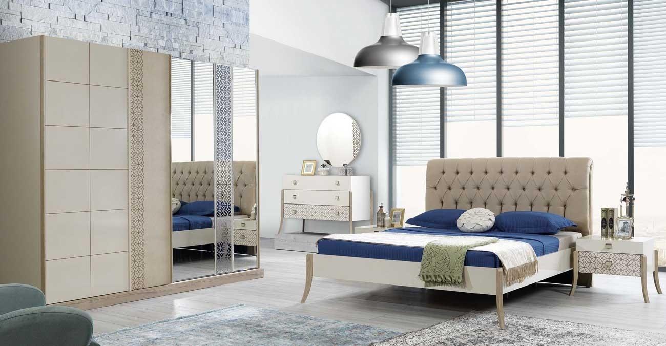Duru Bedroom Set With Sliding Wardrobe  data-src=