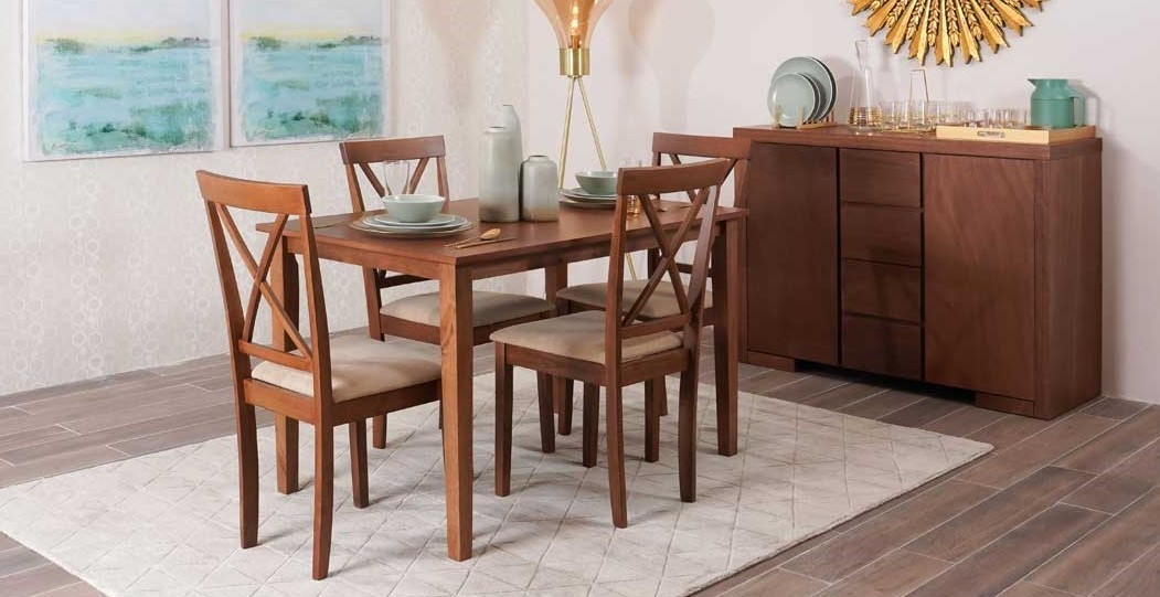 Cailey Dining Set, Brown  data-src=