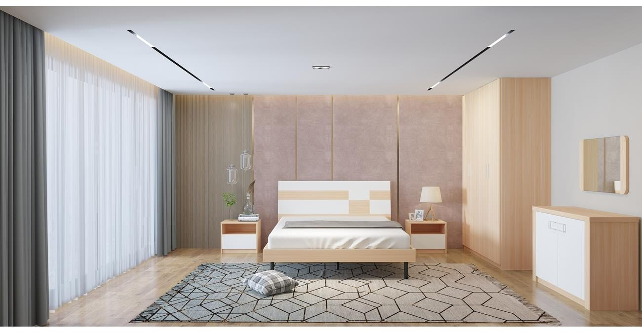Lennon Bedroom Set With Wardrobe  data-src=