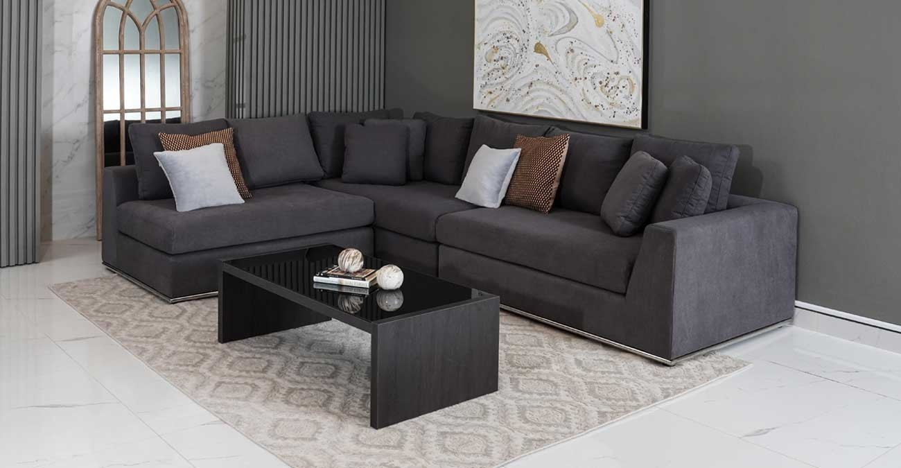 Cooper Corner Sofa, Grey  data-src=