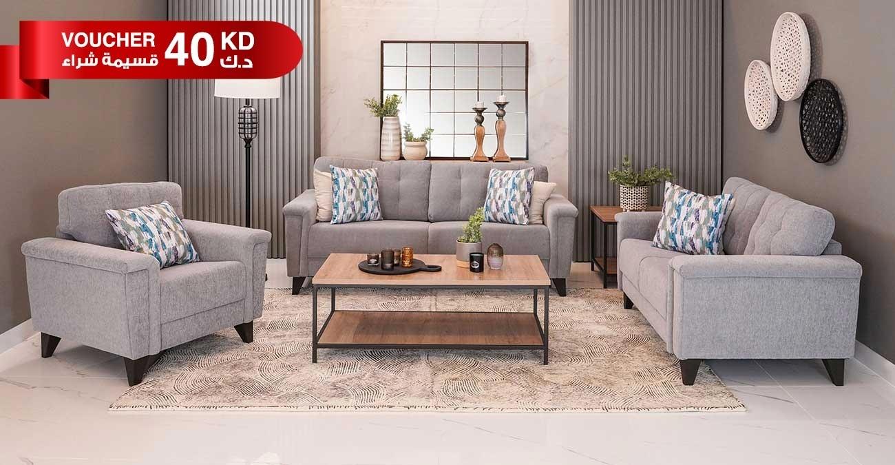 Queenstown Sofa Set Grey  data-src=