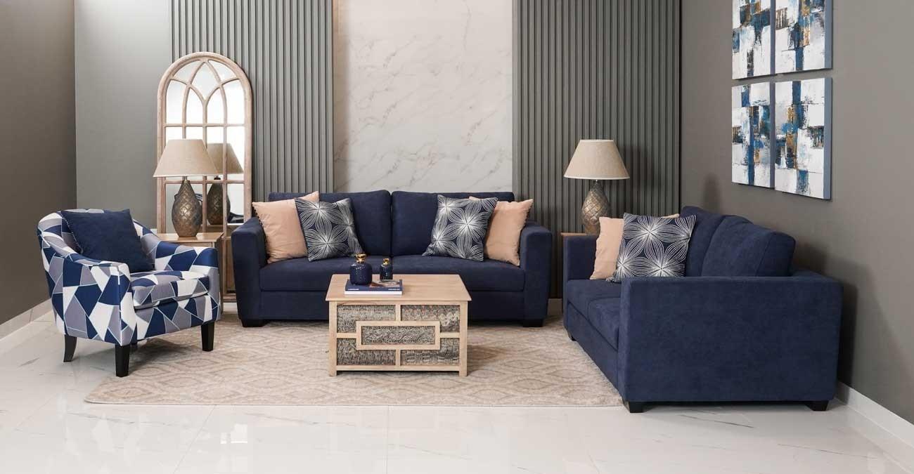 Wanoma Sofa Set Blue  data-src=