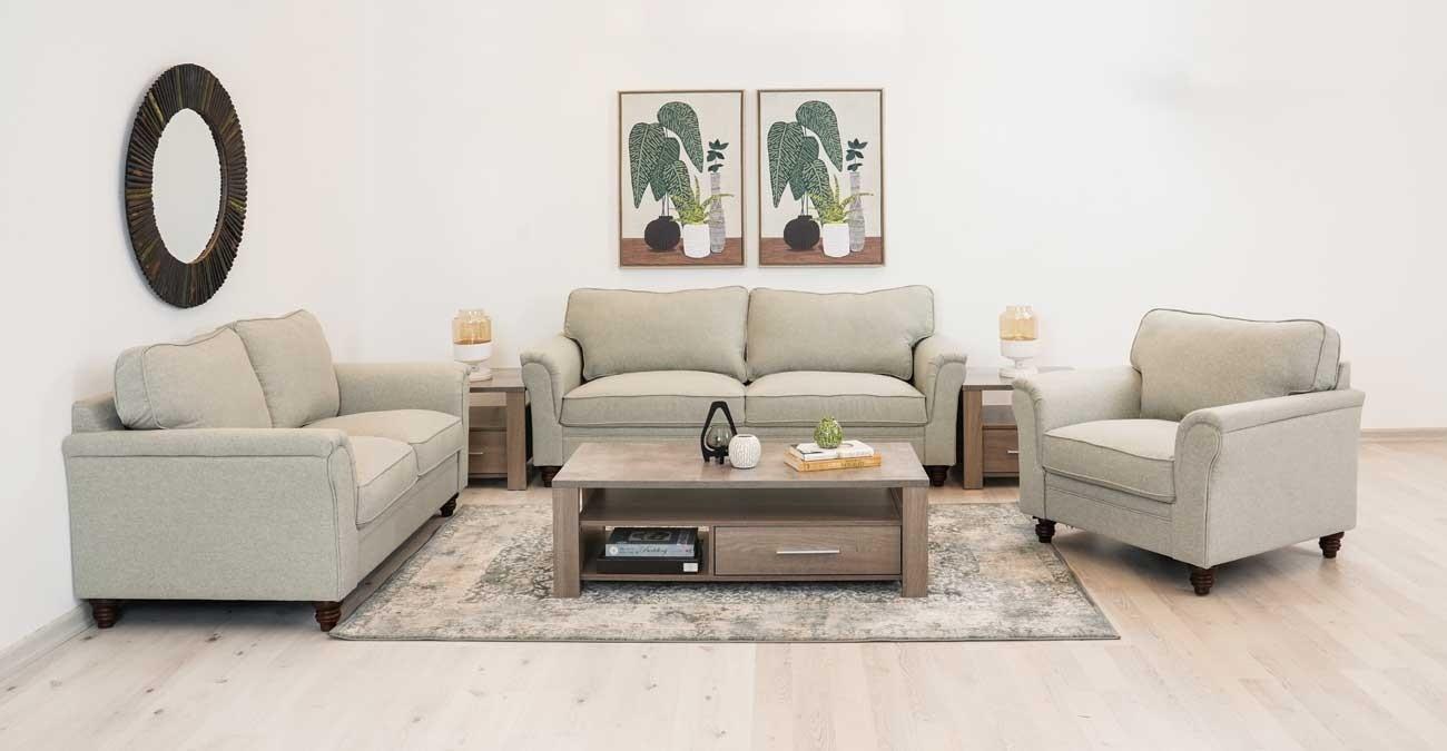 Burgas Sofa Set, Light Grey  data-src=
