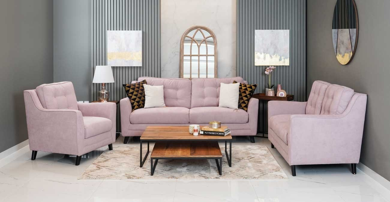 Bianca Sofa Set - Lilac  data-src=