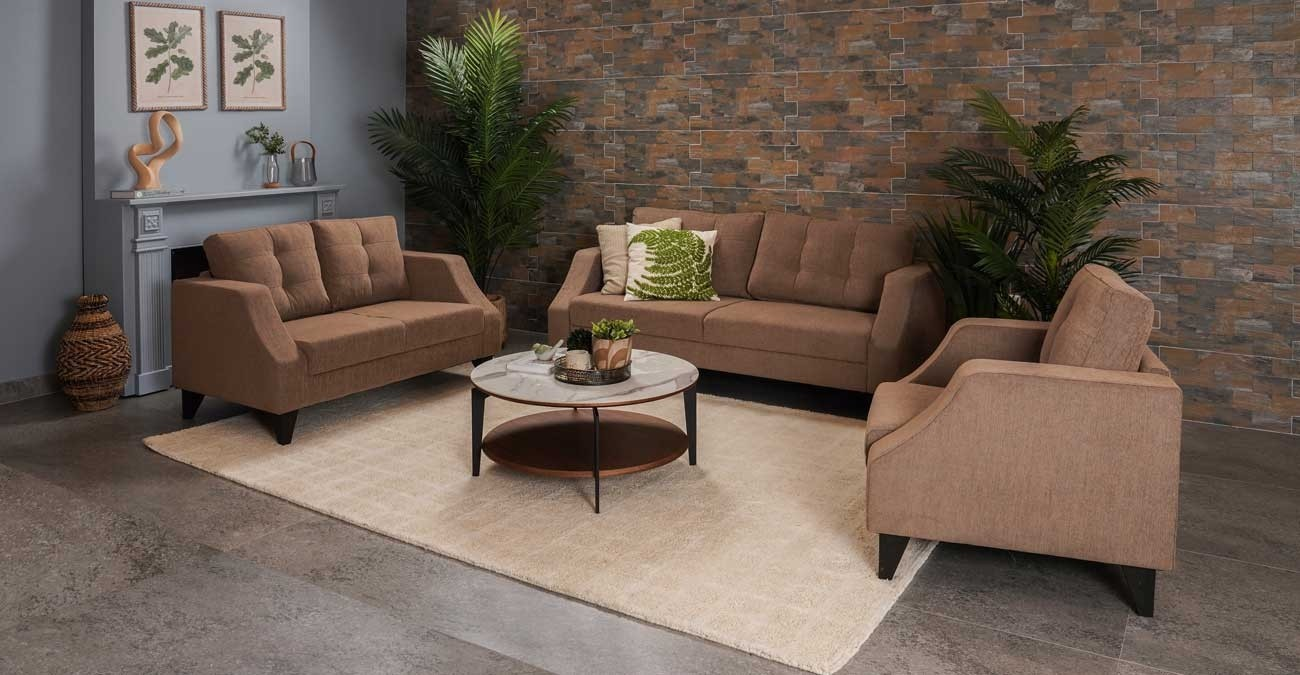 Liverpool Sofa Set Brown  data-src=