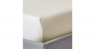 250Tc Plain Ivory 120X200 Fitted Sheet