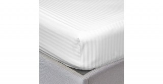 The White Collection White 200X200 Fitted Sheet