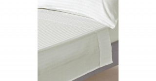 The White Collection Ivory 274X280 Flat Sheet