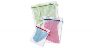 Color Coded Mesh Wash Bags Set Of 3