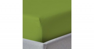 250Tc Plain Green 200X200 Fitted Sheet