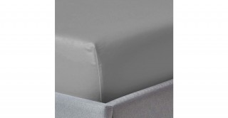 250Tc Plain Silver 150X200 Fitted Sheet
