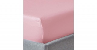 250Tc Plain Baby Pink 120X200 Fitted Sheet