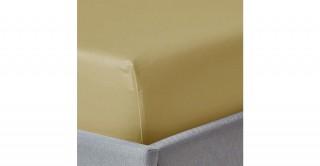 250Tc Plain Mustard 120X200 Fitted Sheet