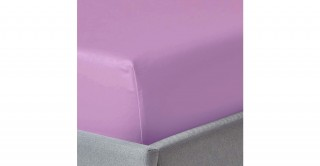 250Tc Plain Lilac Bright 180X200 Fitted Sheet
