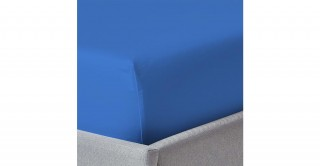 250Tc Plain Seashell Blue 150X200 Fitted Sheet