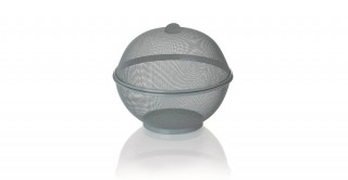 Fruit Basket With Cover 26.5 Cm Grey