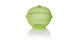 Fruit Basket With Cover 26.5 Cm Green