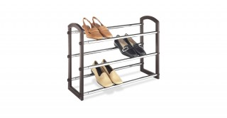 Faux Leather 3 Tier  Shoe Rack