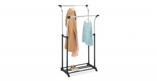 Double Adjustable Garment Rack