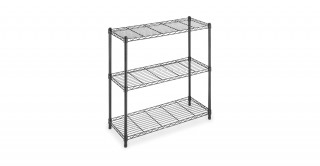 Supreme 3 Tier Shelving-Black