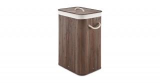 Bamboo Hamper With Rope Handles