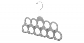 Flocked Scarf Hanger With Hooks