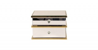 Alice Jewelry Box Clear And Gold  25Cm X 18.5Cm X 17Cm