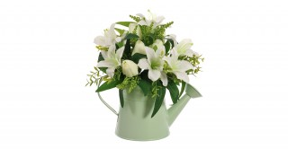 White Lily & Tulip Floral Arrangement