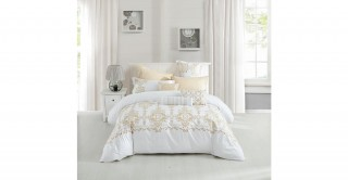 Damask 220X240 Embroidered Duvet Cover Set