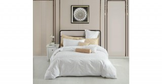 Geo 220X240 Embroidered Duvet Cover Set