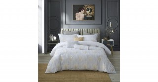 Feather 220X240 Embroidered Duvet Cover Set
