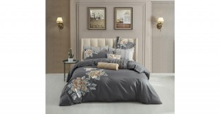 Marigold 240X260 Embroidered Duvet Cover Set